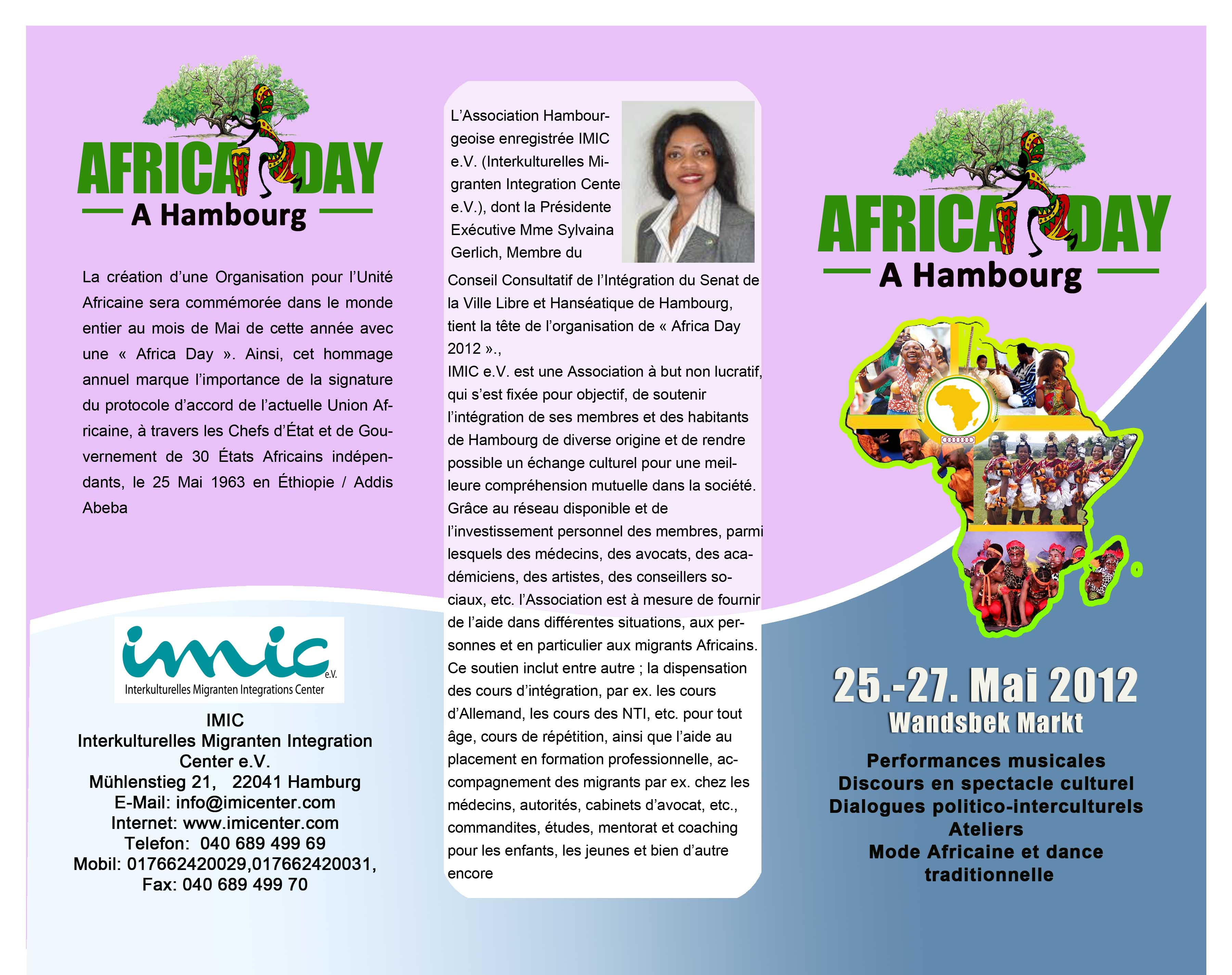Africa Day Flyer - French 1