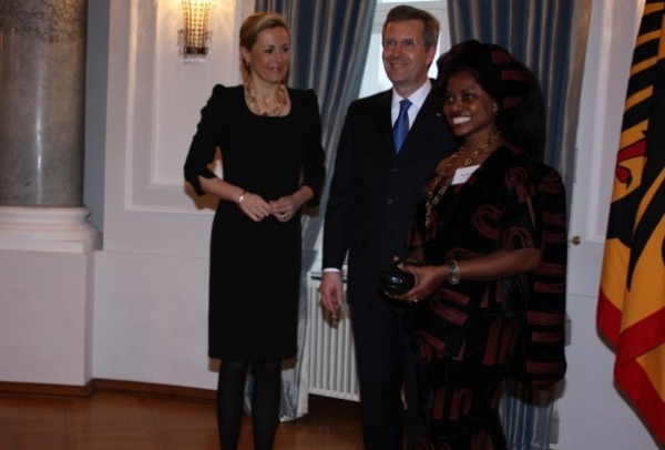 German President Christian Wulff Honors Sylvaina Gerlich